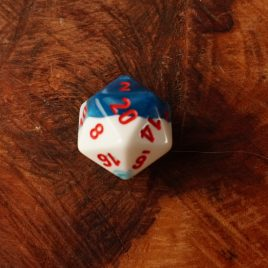 Chessex Gemini Astral, Blue/Red D20