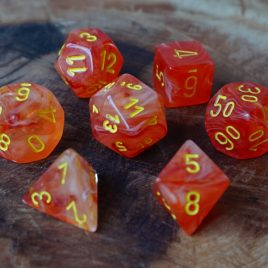 Chessex Ghostly Orange/Yellow Polyset