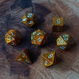 Chessex Glitter Gold/Silver Polyset
