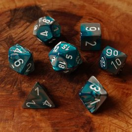 Chessex Gemini Steel Teal/White Polyset