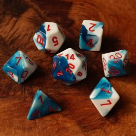 Chessex Gemini Astral Blue White/Red Polyset