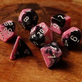 Chessex Gemini Black Pink/White Polyset