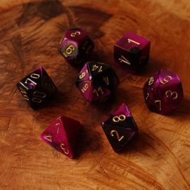Chessex Gemini Black Purple/ Gold Polyset
