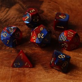 Chessex Gemini Blue Red/gold Polyset