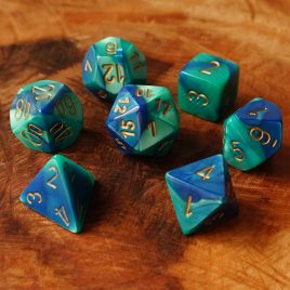 Chessex Gemini Blue Teal/Gold Polyset